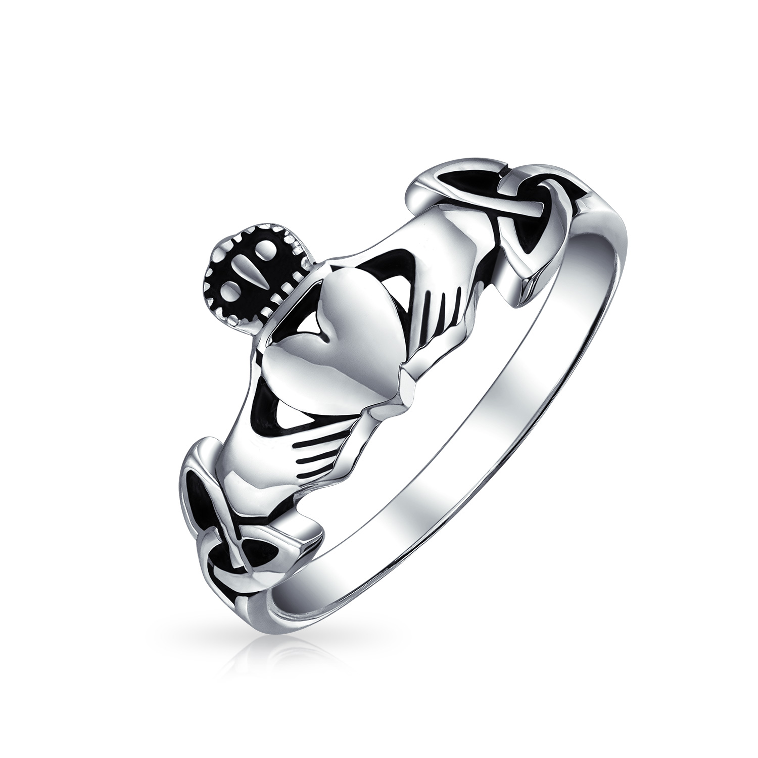 Bling Jewelry Irish Celtic Sterling Silver Claddagh Ring