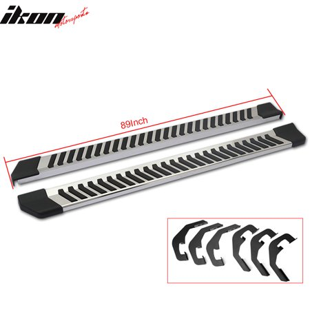 89 Inch Joined Board - Ikon Motorsports Running Boards for 07-18 Chevy Silverado Crew Cab 89 Inch OE