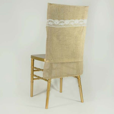 All Natural Jute Burlap Chair Slipcover, Natural (Covers Au Natural)