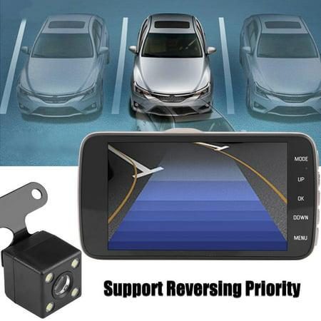 LHCER 4Inch HD 1080P Car DVR Driving Video Recorder Dual Lens Dash Camera Night Vision, Car Dash Camera, HD Car DVR - image 2 of 13