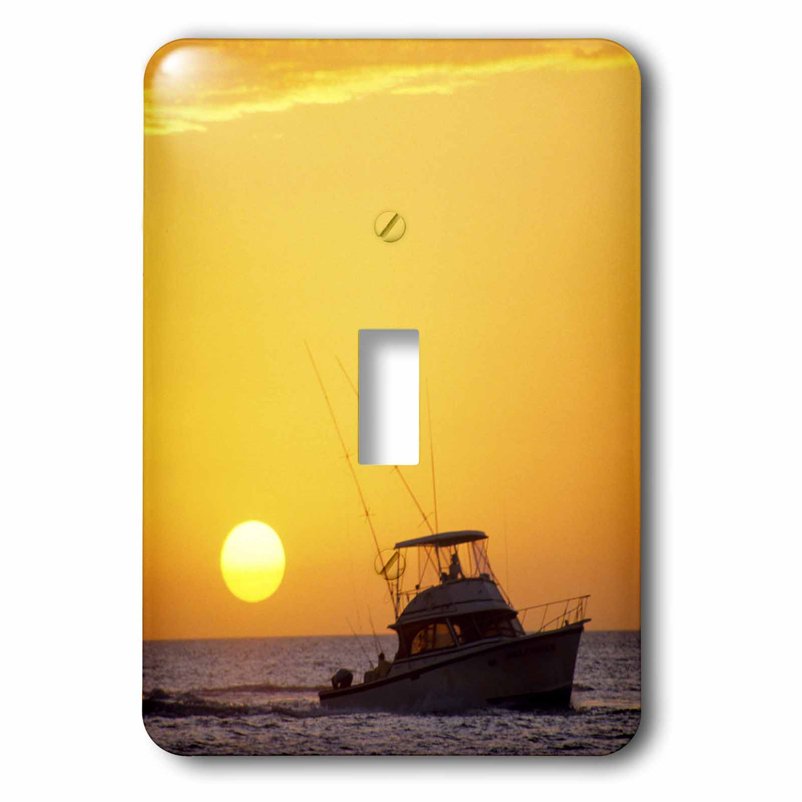 3dRose A fishing boat and sunset in Key West, Florida US10 DFR0107 David R. Frazier, Single Toggle... by 3dRose