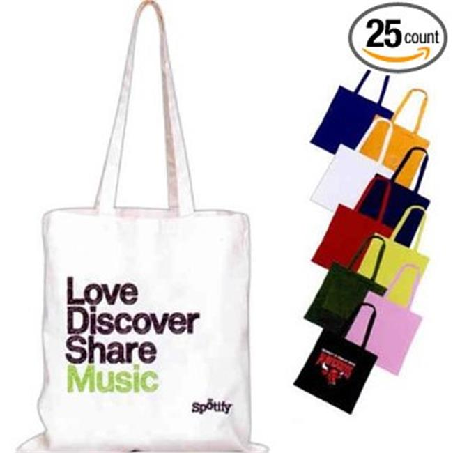 Superbagline QSB52 Black Cotton Convention Tote - Pack of 25