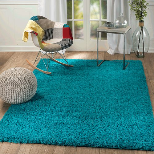 Rug and Decor Inc. Supreme Teal Area Rug