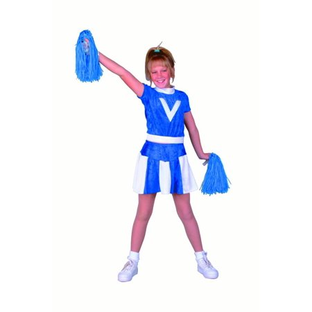 Cheerleader Girls Costume-Girls S (4-6) - Cheerleader Supplies