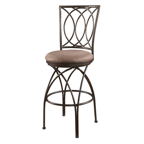 Powell Big and Tall Metal Crossed Legs Bar Stool, Bronze by L. Powell Acquisition Corp.