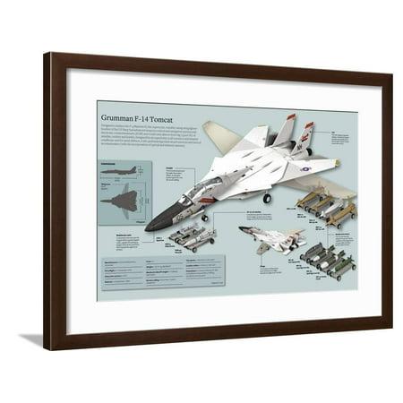 grumman f-14 Tomcat. Framed Print Wall
