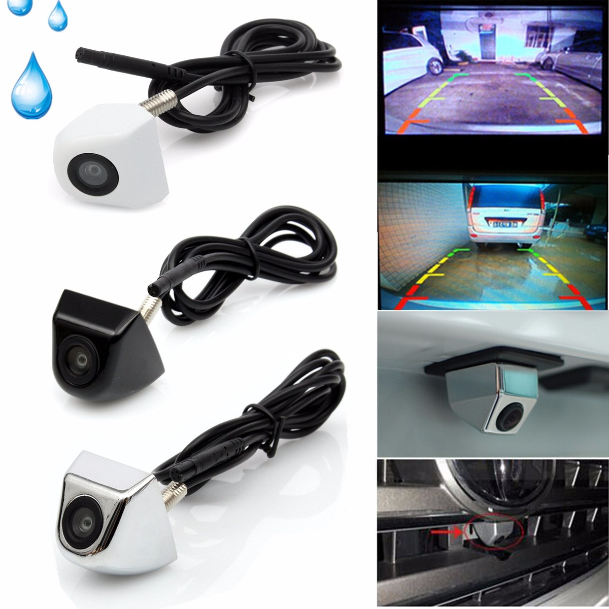 Ip67 Universal Waterproof Night Vision CCD 170° Wide Angle Car Rear View Camera