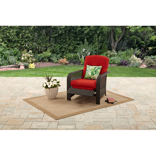 Mainstays Briar Creek Outdoor Recliner Chair with Cushions