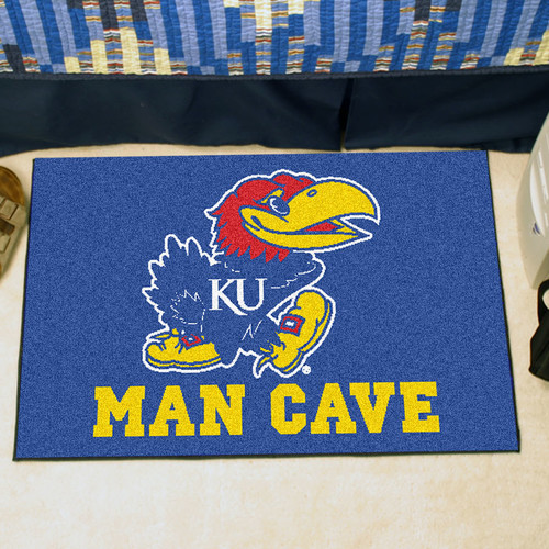 FANMATS NCAA University of Kansas Man Cave Starter