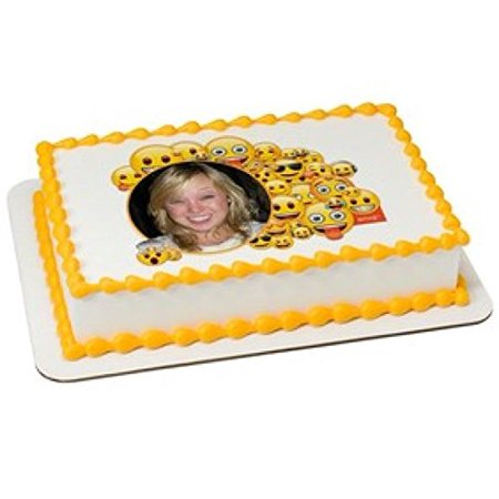 Emoji Mash Up 1 4 Sheet Edible Cake Image Picture Frame Birthday Party
