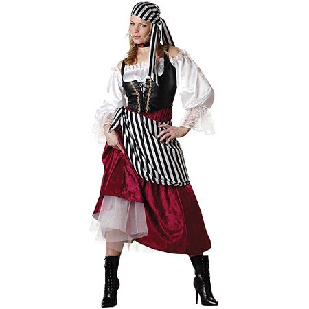 Pirate Wench Adult Halloween Costume - Beer Wench Costume Plus Size