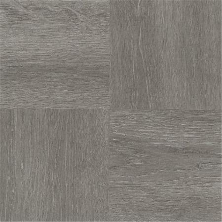 12 x 12 in. Nexus Charcoal Grey Wood Self Adhesive Vinyl Floor Tile - 20 Tiles by 20 sq. ft. ()
