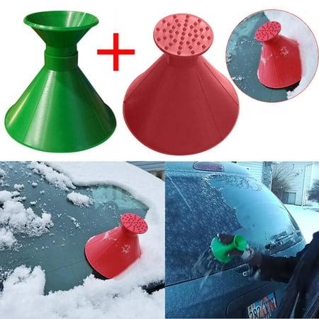 - Scrape A Round Magic Cone-Shaped Windshield Ice Scraper Snow Shovel Tool+Funnel
