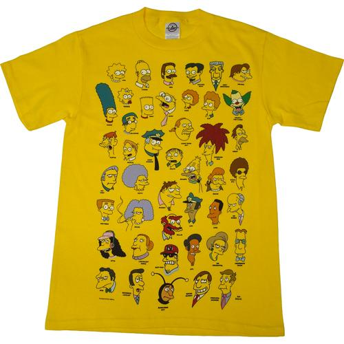Simpsons Cast of Characters Multi Head T-Shirt