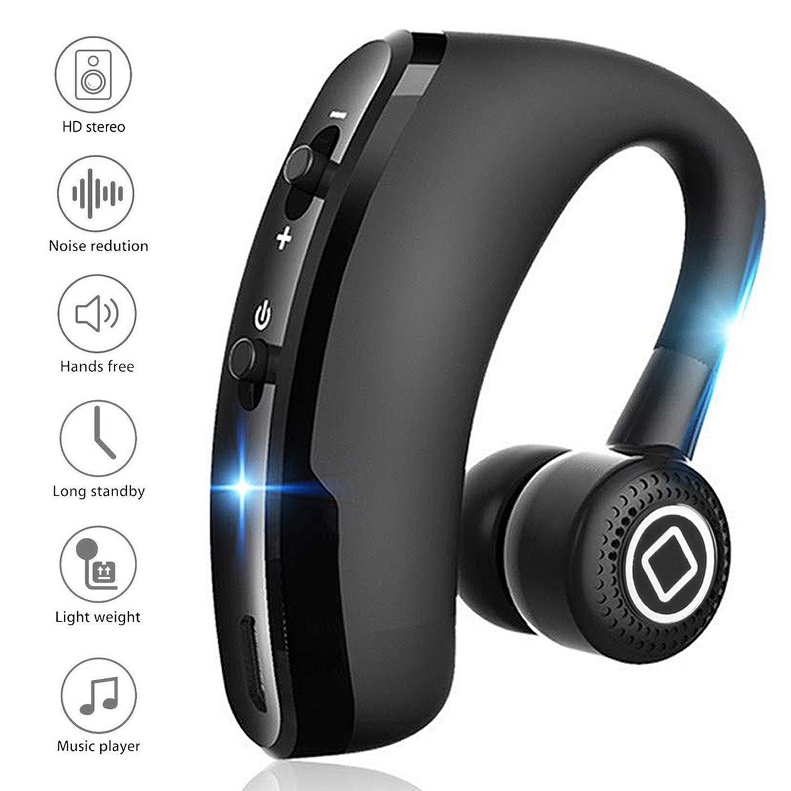 TSV Universal V9 Wireless Bluetooth 4.0 Single Headset Sports Headphone Earphone Handsfree(Fit for Right and Left Ear)