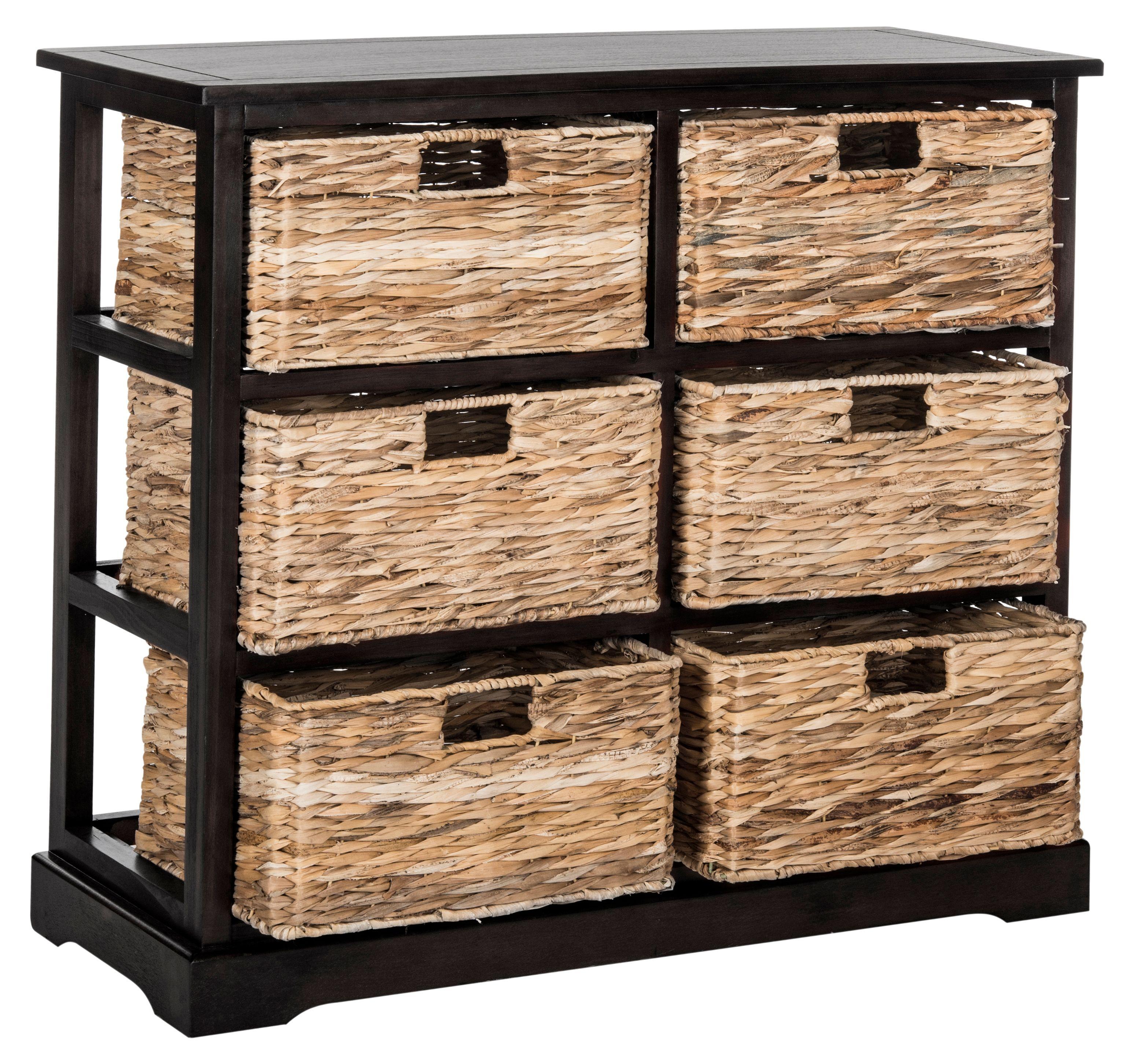 Safavieh Keenan 6 Wicker Basket Storage Chest