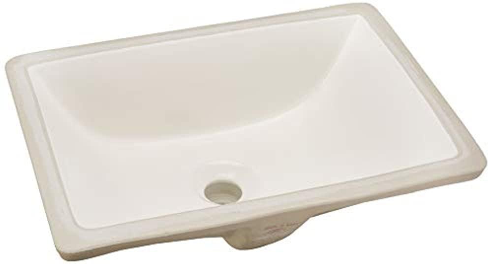 Nantucket Sinks Um 16x11 B 16 Inch X 11 Inch Rectangle Undermount Ceramic Vanity Bathroom Sink Bisque Walmart Com Walmart Com