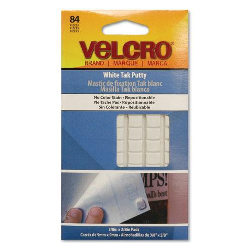 "Velcro Putty Adhesive - 0.50"" Width X 0.50"" Length - 84 / Pack - White (91396)"