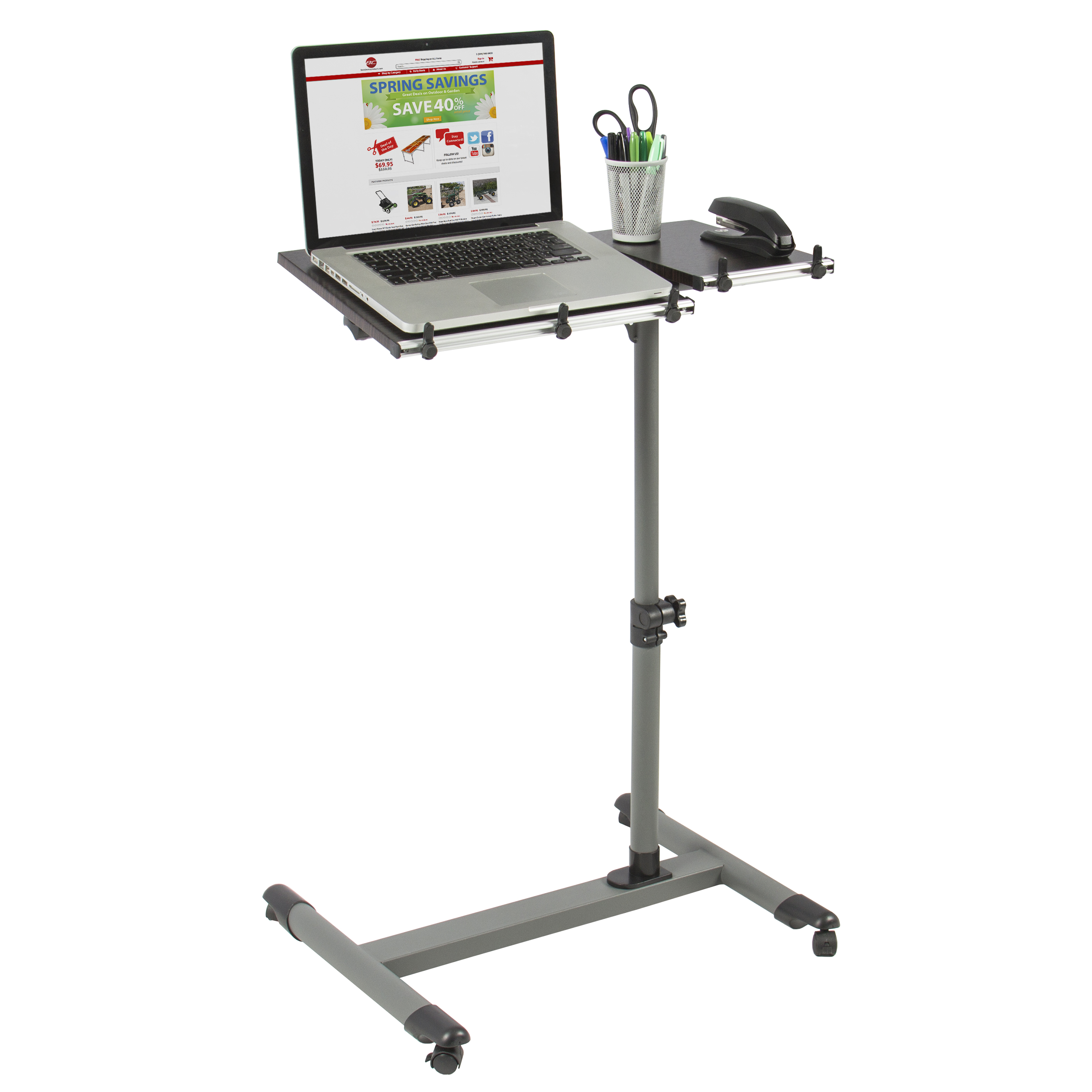 Attractive Rolling Laptop Table W/ Tilting Tabletop Overbed Desk TV Food Tray Hospital  PC