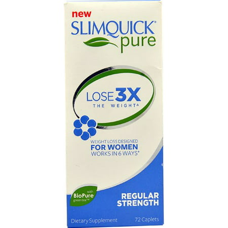 SlimQuick Fat Burner, Regular Strength, Caplets - 72 caplets