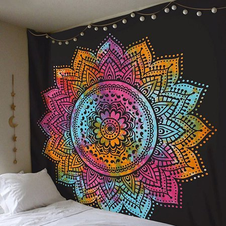 Nicesee Bohemian Mandala Tapestry Hippie Wall Hanging Tapestry Bedspread Dorm Decor (Hippie Decor Stores)