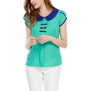 Women's Short Sleeves Blouse White (Size L / 12)