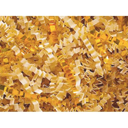 French Vanilla & Gold Cut / Shredded Paper Gift Box & Basket Crinkle Paper