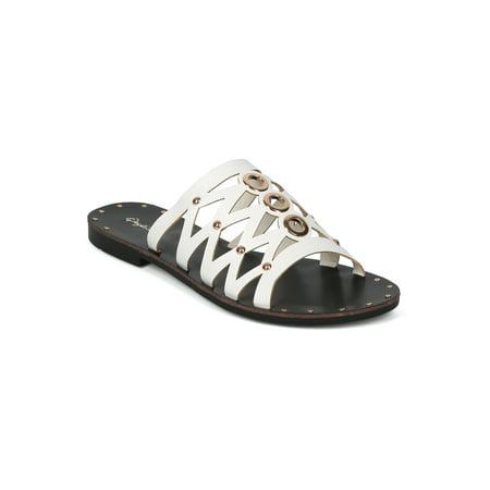 2db9aff428182 Alrisqd - New Women Leatherette Open Toe Strappy Flat Slip On Sandal -  17960 - Walmart.com