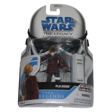 Star Wars Legacy Collection Saga Legends Plo Koon Figure SL9 w/ Clone Gear