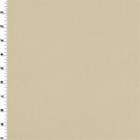 Beige Pin-Stripe Wool Gabardine Suiting, Fabric By the Yard