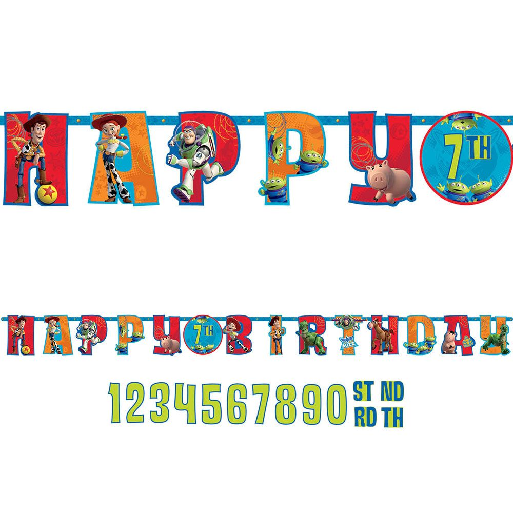 Toy Story Add-An-Age Letter Banner (Each) - Party Supplies