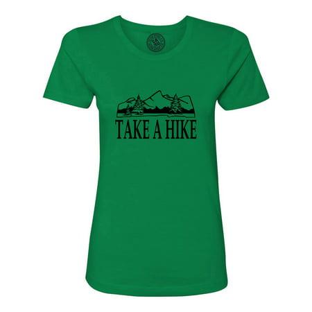 Take a Hike Wild Life Camping Summer Womens Short Sleeve Shirt