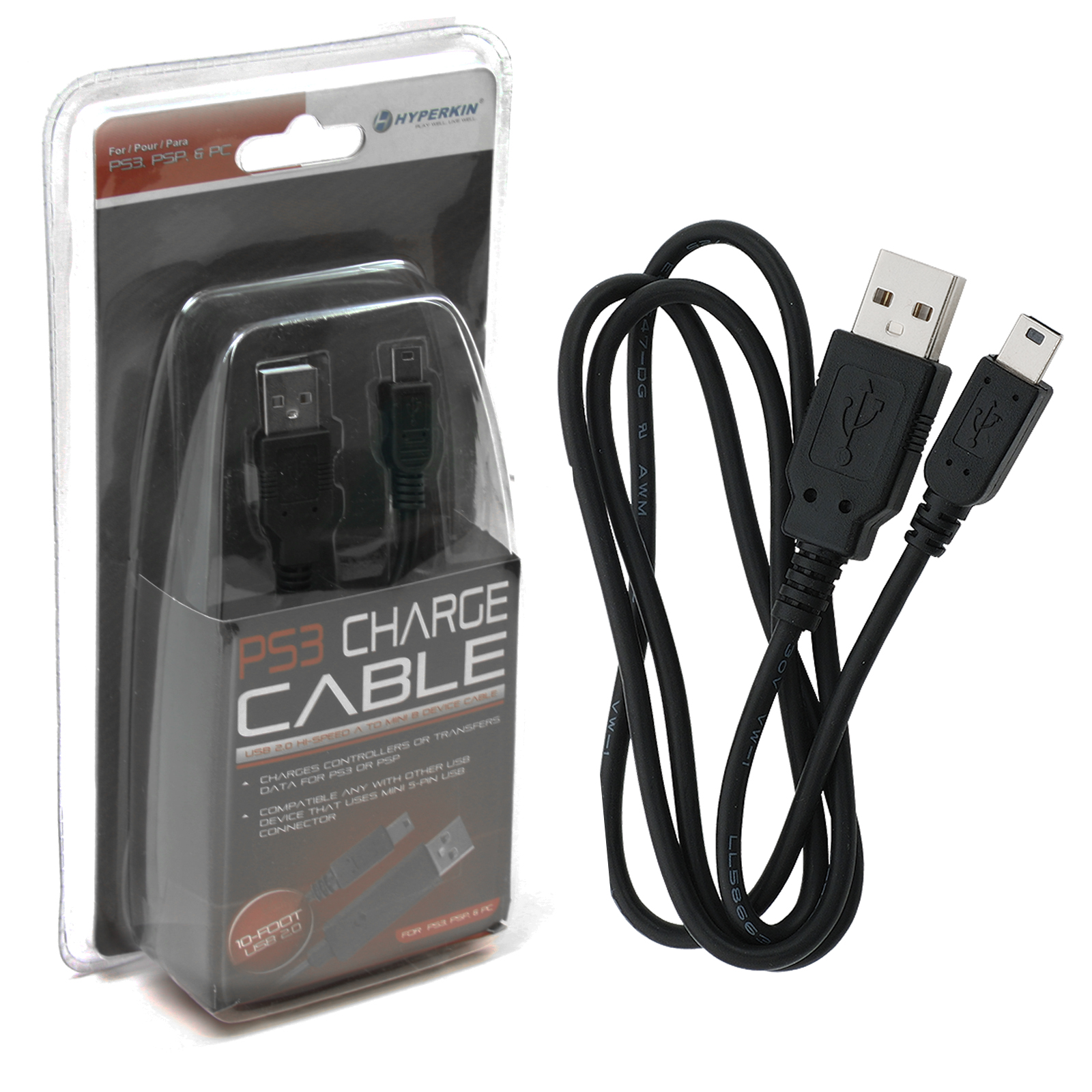 Hyperkin Mini USB Cable For Playstation 3