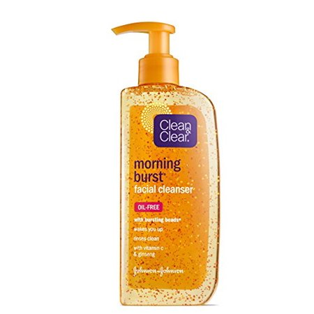 Clean & Clear Morning Burst Facial Cleanser with Bursting Beads, 8
