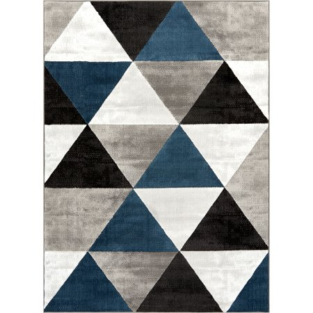 Well Woven Arlo Tiles Modern Triangle Pattern Area Rug Abstract Geometric Carpet