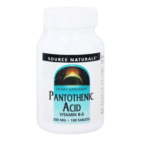 Source Naturals - Pantothenic Acid Vitamin B5 250 mg. - 100