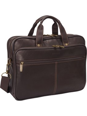 Product Image Travelware Full Grain Colombian Leather Double Compartment 15 4 Inch Laptop Business Briefcase