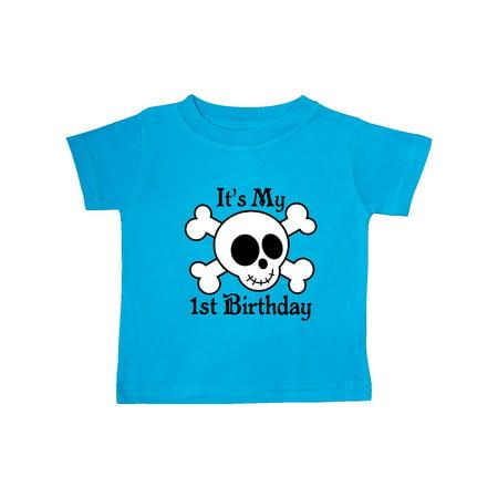 1st Birthday Pirate Skull Baby T-Shirt - Baby Pirate Shirt