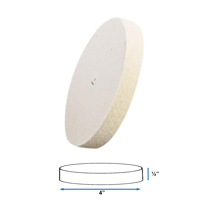 Jewelers Felt Wheel Buff Spanish 6 Diameter X 1//2 Thick Hard