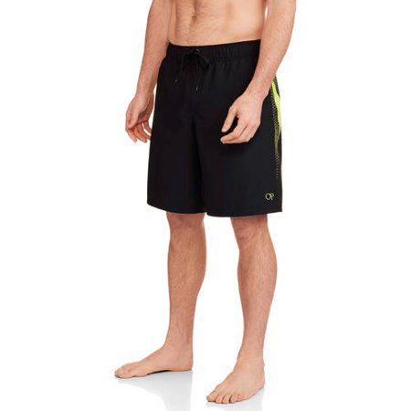90d9a74651b1 OP - Men's Elastic Waist Athletic Print Swim Trunk - Walmart.com