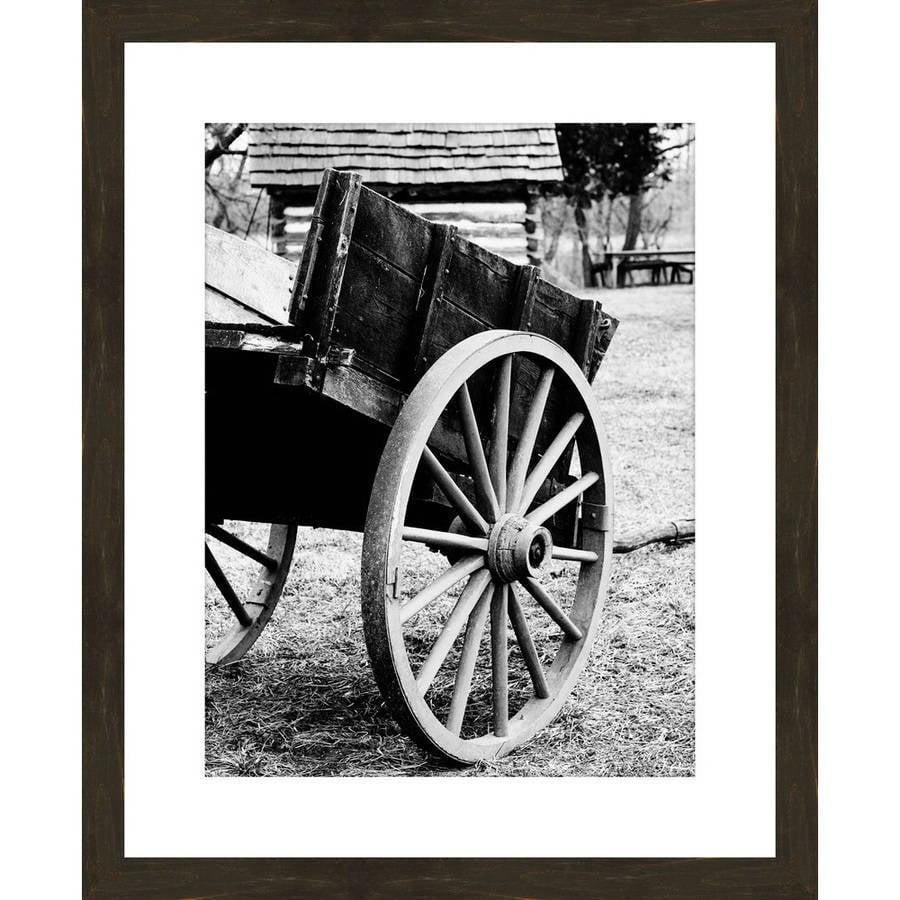 Black And White Push Cart 18 X 22 Wall Art