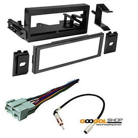 chevrolet 1995 - 2002 full size truck 1500/2500/3500 car stereo dash install mounting kit + wire harness + radio (Truck Dash Kits)