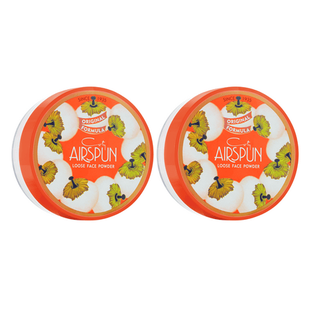 ($12 Value) Coty Airspun Loose Face Powder 2.3 oz. Translucent Extra Coverage, Twin Pack Translucent Face Powder