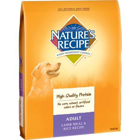 Natures Recipe Lamb and Rice Flavor Dry Dog Food - 30 lbs