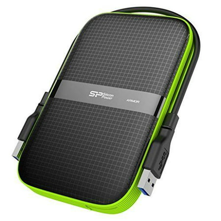 Silicon Power 1TB Black Rugged Portable External Hard Drive Armor A60,  Shockproof USB 3 0 for PC, Mac, Xbox and PS4