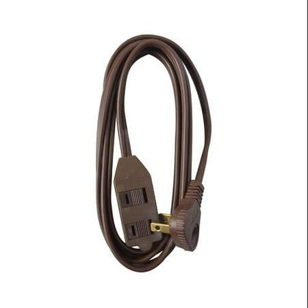 HO WAH GENTIN KINTRON SDNBHD Extension Cord, 16/2 SPT-2 Low Profile Polarized Slender Plug, Brown, 11-Ft.