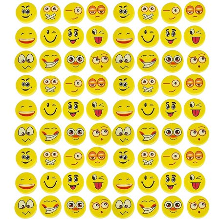 Emoji Eraser - 72 Piece Random Round Face Yellow, School Supply, Party Favor, Goody Bag Filler, Giveaway, For Boys And Girls Of All Age – By - Cheap Giveaways