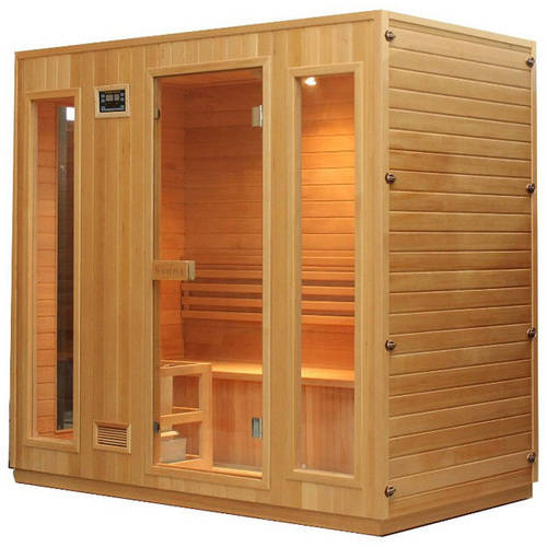 ALEKO STI6ESPOO 4-5 Person Canadian Hemlock Wood Indoor Wet Dry Sauna with 4.5 KW ETL... by ALEKO