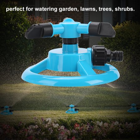 Ejoyous 360° 3 Nozzle Fully Circle Rotating Watering Sprinkler Irrigation System for Garden, 3 Nozzle Water Irrigation, 3 Nozzle Irrigation - image 2 of 8