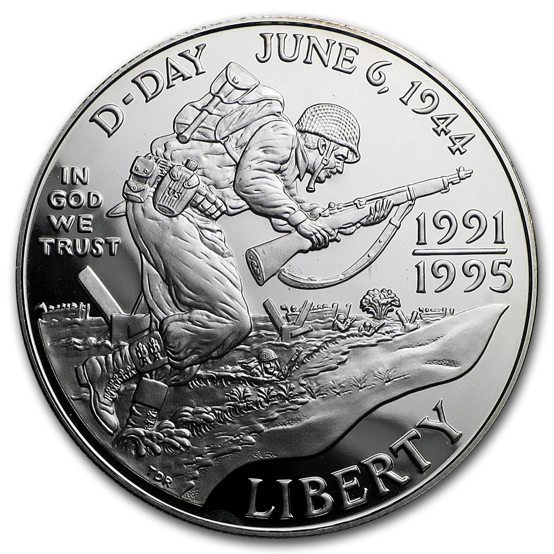 1993-W World War II $1 Silver Commem Proof (Capsule only)